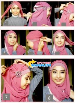 Cara Memakai Jilbab Kreasi Simple dan Elegant