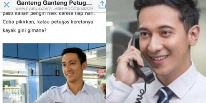 Fakta Heboh Yudi Ramdhan, Petugas KRL Ganteng Yang dulu jadi Bintang Iklan (Full Photo)