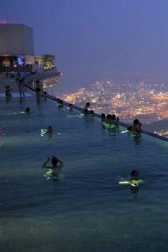 Marina Bay Sands Skypark Swimming Pool - Singapore