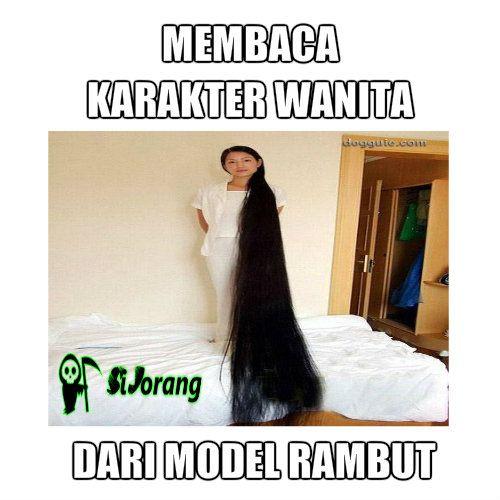 membaca karakter wanita dari model rambut