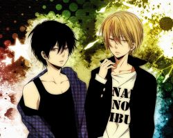 My Lovely Android Boy-About the couple's :3 / (Black hair: Reto, Blonde Hair: Hyuga)