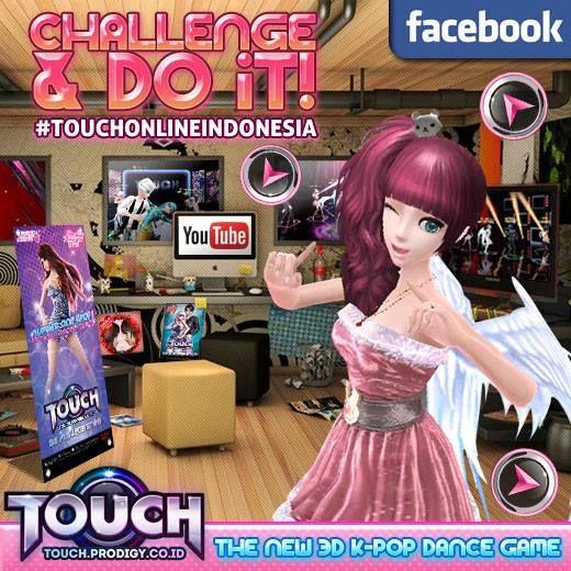"Eksis di dalam game sudah biasa ~ buktikan dirimu juga eksis di #YouTube!! WoW! Gimana caranya? Yuk ikutan Event ""Challenge and Do it!!"" di Touch Online, game casual dance KPOP. Info lengkap> http://touch.prodigy.co.id/challenge-and-do-it/"