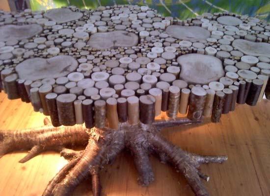 limbah kayu jadi karya seni,, Wow ga tuh ?