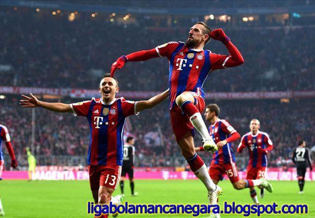 Frank Riberyy Fantastik telah mencapai 100 gol bersama Muenchen
