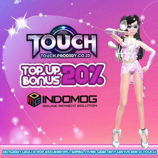 Touch Online Indonesia, game web-based 3D casual-dance dengan lagu hits KPOP bagi-bagi Bonus dari INDOMOG! Main, Temukan pasangan kamu dan dapatkan hadiahnya. Klik aja http://touch.prodigy.co.id/register.php