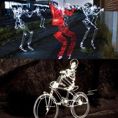 light graffiti skeletons (super sangars) wo0w keren abissss .....