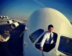 Sebelum terbang,.. Selfie dulu aahhhh......
