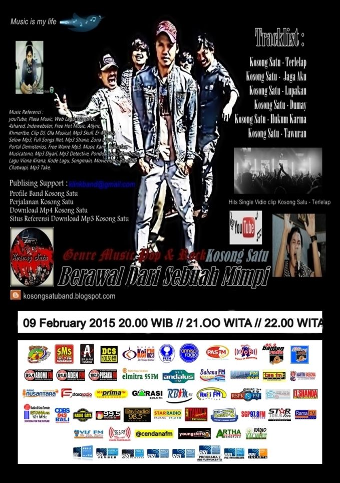 Promo Terbaru 2015 Kosong Satu - Dumay Catagori : Music Video Album : Kosong Satu Artis : DYosef Minor Video Duration: 3:24 https://www.youtube.com/watch?v=LeDOg12WS74