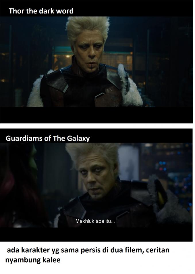 tokoh karakter ini ada di 2 filem yang berbeda sama persis. dan juga ceritanya tidak bersangkutpaut kenapa bisa begitu ?.......WOW ya donk !