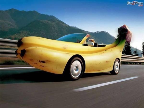mobil bodi dari pisang, fantastik