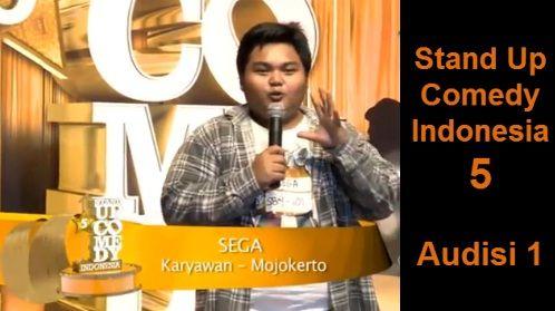 Stand Up Comedy Indonesia Season 5 - Sega - Tidak Minat Upacara - SUCI 5 Audisi 1 https://www.youtube.com/watch?v=vFLG6sY3Ct4