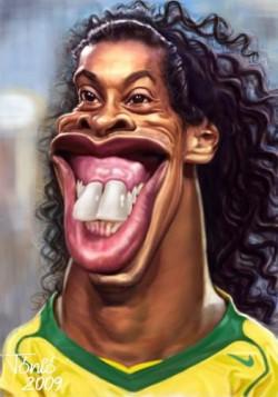 Karikatur Lucu Pemain Sepakbola Dunia Versi 1