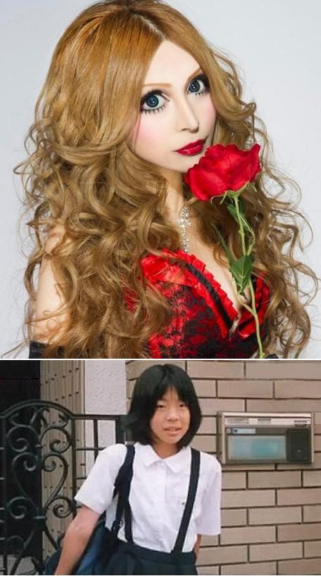 3. Vanila Chamu Vanilla Chamu berasal dari Jepang. Banyak wanita dari Asia Timur menjalani operasi plastik untuk membuat matanya lebih lebar. Namun apa yang dilakukan Vanilla Chamu ini cukup ekstrem dari penampilannya yang sebelumnya. Lalu apa