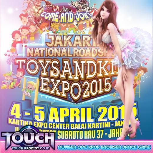 Touch Online Indonesia, the best casual dance game bagi-bagi hadiah langsung di acara Toys an Kid Expo - Balai Kartini, 4-5 April 2015. WoW!