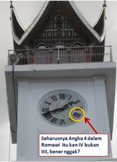 Terjawab, Misteri Angka 4 Romawi di Jam Gadang, Padang....wow ya pulskers