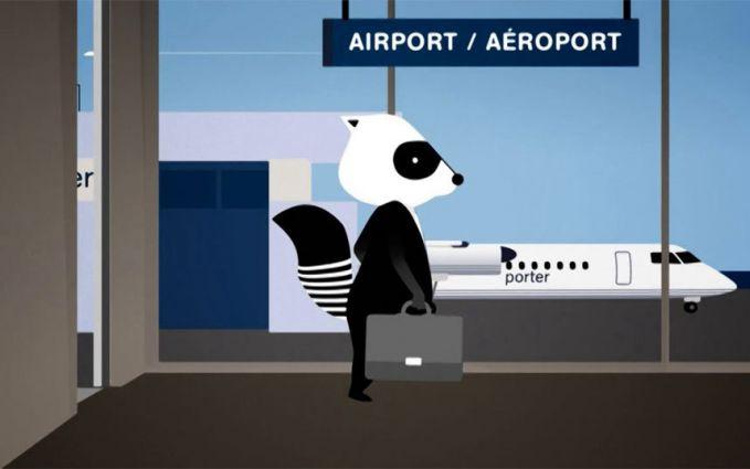 "Porter Airlines (ke-55) - maskapai penerbangan yang maskot adalah rakun necis Maskot maskapai adalah rakun agak ceria bernama ""Mr Porter""."