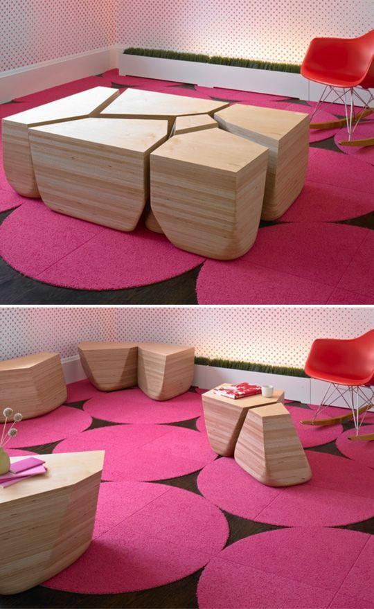 Furniture unik, bisa dijadiin meja dan juga bisa dibongkar jadi kursi, keren ya PULSKER