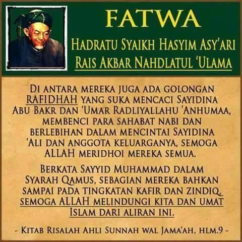 Fatwa hadratussyaikh hasyim asyari tentang penyejek nabi dan para Sahabatnya