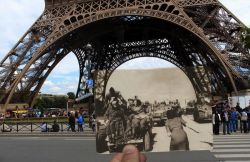 Foto Tempat - Tempat di Paris Pada Tahun 1944 yang Disatukan Dengan Keadaan Sekarang