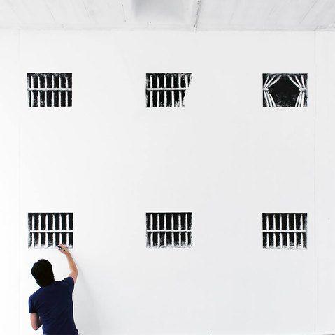 5. Menggambar jendela yang tampak nyata