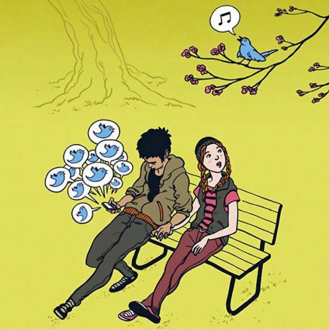 tweet..tweet..bunyi burung bukan lagi dari burung yang sebenarnya