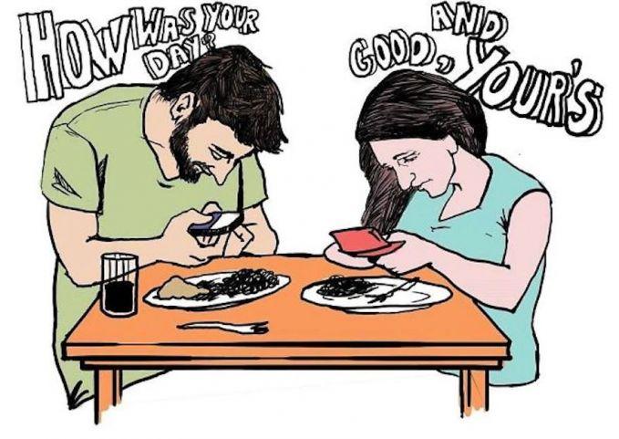 Nggak ada lagi percakapan saat kencan