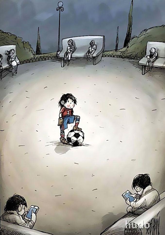 Sebelum ada smartphone lapangan masih ramai dengan anak2 yang bermain