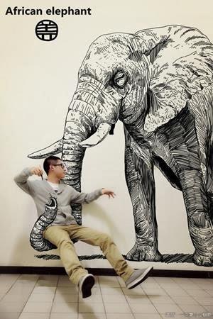 2. Seakan diangkat oleh belalai seekor gajah raksasa