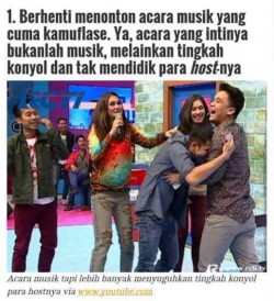 9 ACARA TV SAMPAH YANG DI TONTON ORANG INDONESIA