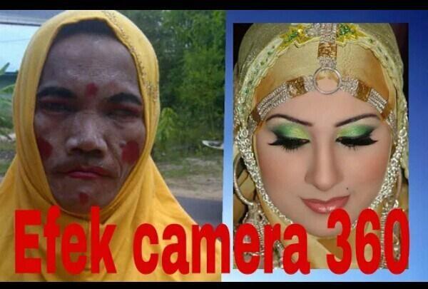 15 Gambar Lucu Ajaibnya Aplikasi Edit Foto Camera 360 Wkakaka