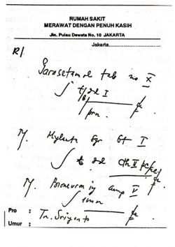 Menguak Misteri Tulisan Resep Dokter yang jelek Sekali