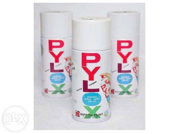 Pylox = cat semprot Pokoknya yang berbatu Cat Tembok bentuk Semprotan disebut Pylox..