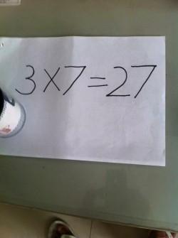 3 x 7 = 27 (Sebuah Kisah Inspiratif !)