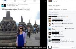 "Seorang Cewek Bikin ""Gagal Paham"" Netizen, Borobudur Dianggapnya Malioboro ?"