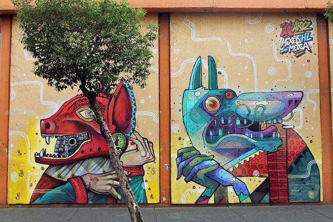 Kota Meksiko Kota Meksiko mulai membranding dirinya menjadi Kota Kanvas Dunia. Grafiti di kota ini legal, bahkan dijadikan proyek Kota dengan pengerjaan selama 11 bulan oleh 9 seniman.