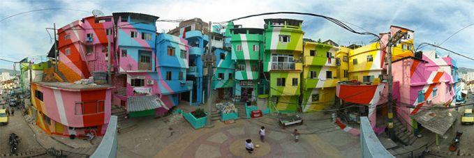 Rio de Janeiro, Brasil Seluruh jalanan di Rio de Janeiro penuh warna dengan Street Art. Disini Street Art digunakan untuk menekan konflik horisontal yang dulunya kerap terjadi antar warga.