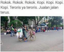 (13 Foto) Gambar Lucu Pasca Terjadi Teror BOM #KamiTidakTakut #HanyaDiIndonesia
