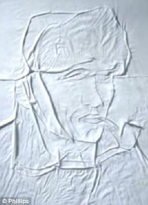 Ini adalah lukisan wajah seniman terkenal Van Gogh. Keren ya!
