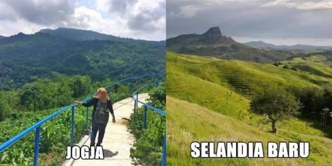 Nikmati hijaunya alam perbukitan Indonesia di Green Village Gedangsari. Adem gan!