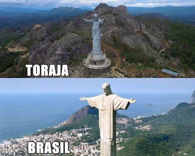 Patung Raksasa Yesus Tana Toraja ini bahkan lebih tinggi dari yang ada di Rio de Janeiro, sehingga menjadikannya tertinggi di dunia.