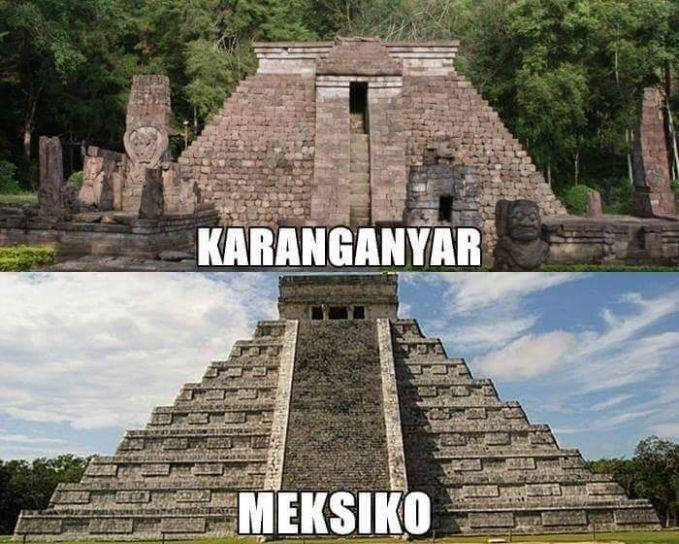 Candi Sukuh iin bentuknya mirip dengan Chichen Itza di Meksiko.