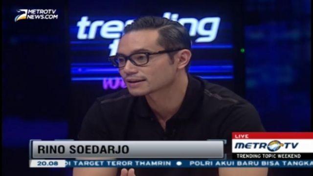 Ini dia (orang yang dikira) polisi ganteng pas aksi terorisme kemarin, namanya Rino Soedarjo