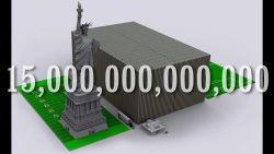 Wujud Fisik Tumpukan Uang 1 Milliar, Triliun, Quadrillion US dollar