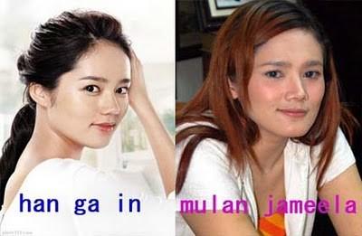 Foto Mulan Jameela Mirip dengan Han Ga In