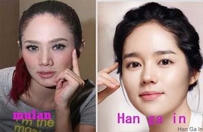 Ini Lagi Foto Mulan Jameela Mirip dengan Han Ga In