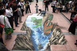 11 Lukisan 3D di Jalan Raya Ini Seakan Nyata