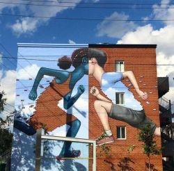 Seniman Jalanan Ini Merubah Dinding Kosong Menjadi Seni