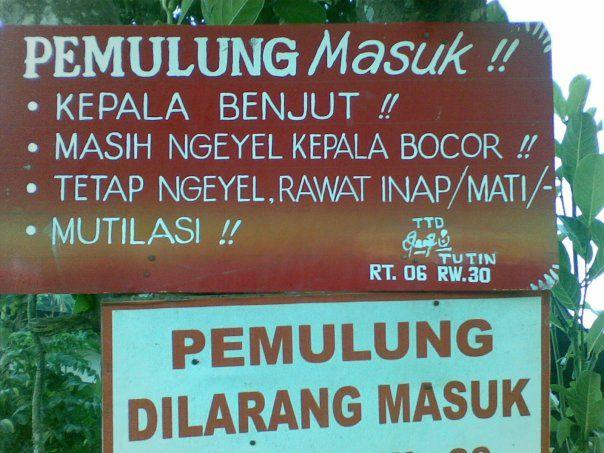 cuman di Indonesia, pemulung akan dimutilasi..