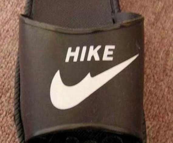 Ini Sandal tiruannya NIKE, tapi malah jadi Hike, parah banget dah!