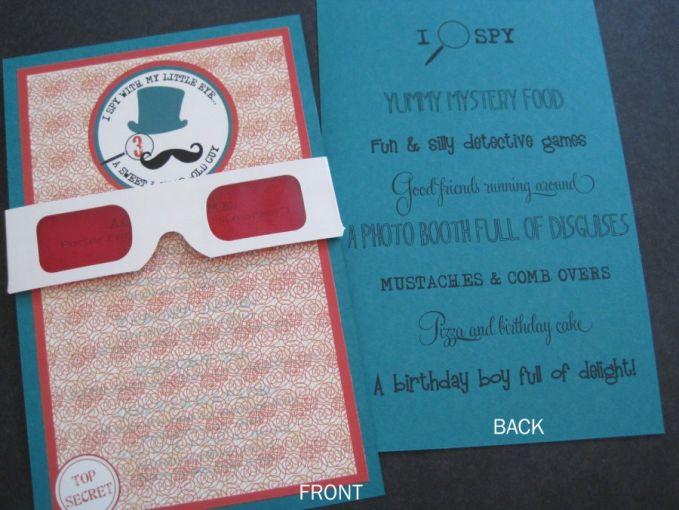 Undangan Pesan Tersembunyi, Pesan di Undangan ini hanya bisa dilihat melalui kacamata yang sudah tersedia, ya masa harus beli kacamata sendiri :D